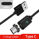 Magnetic Plug + Fast Charging Aluminium & Nylon USB Cable for iPhone & Samsung Type-C and Micro USB
