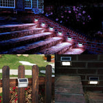 3 LED Outdoor Solar Lamp Ideal for Stair Garden Courtyard Pathway Wall