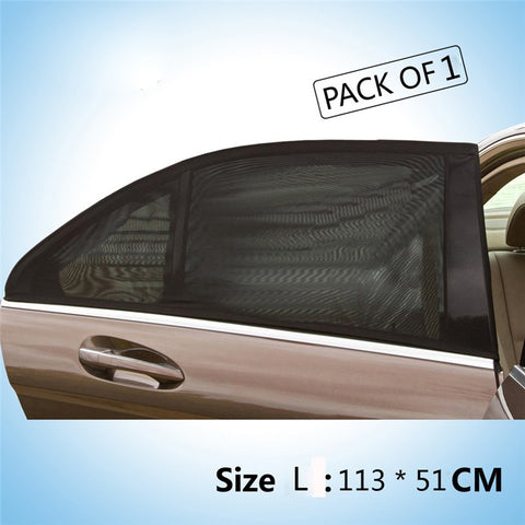 Car Rear Window UV Stretchable Mesh Sun Shades  with Sticky Veclro - 1 Piece