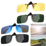 Clip on Glasses Polarized Anti Glare Anti-UV Glasses for Night-Vision / Night-Driving
