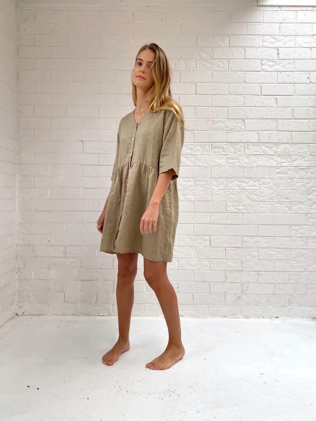 The IVY Button Smock