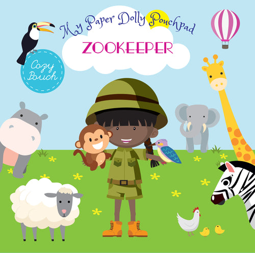 My Paper Dolly Pouchpad: ZOOKEEPER