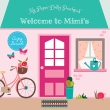 Load image into Gallery viewer, PAPER DOLLS My Paper Dolly Pouchpad: Welcome to Mimi's