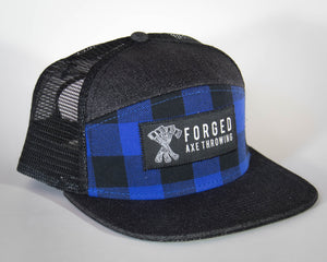 Blue Plaid Trucker
