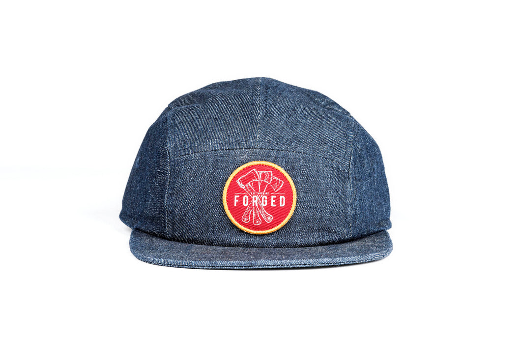 Denim 5 Panel with Red Forged Patch