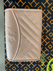 Tory Burch NWT Alexa Foldable Mini Leather Wallet ,