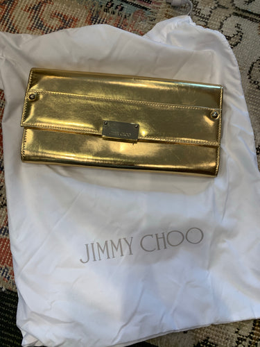 Jimmy Choo Gold Clutch - $390