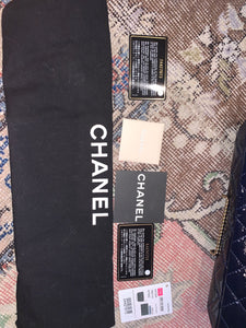 Chanel clutch bag - Navy with chain - $2600