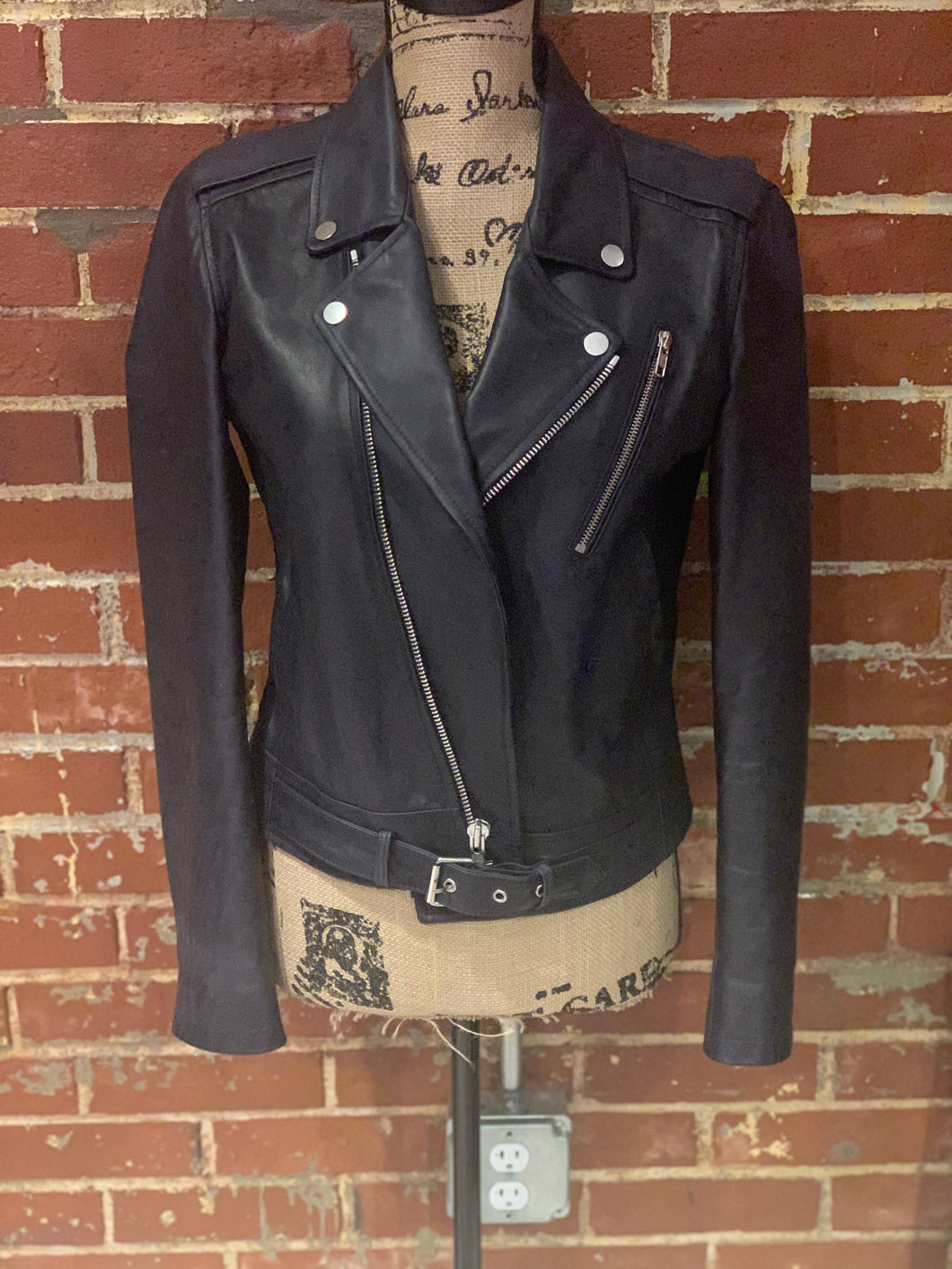 Theory Leather Moto Jacket - Size Small - $295