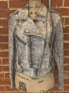 Six Fifty Snakeskin Moto NWT Jacket - S - $159
