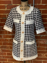 Load image into Gallery viewer, Houndstooth Tweed Dress - S - $55