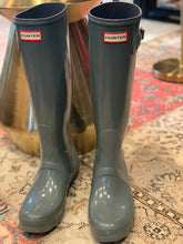 Load image into Gallery viewer, Hunter slate rain boots - 9M - $63