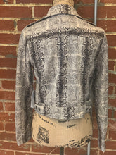 Load image into Gallery viewer, Six Fifty Snakeskin Moto NWT Jacket - S - $159