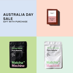 [FREE GIFT] Matcha Machine + Balance - Red Clay Body Bar - $79 Value [Valid for all orders over $150]
