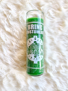 Bring Customers Candle (Green)