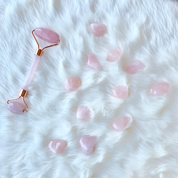 Rose Quartz Crystal Roller