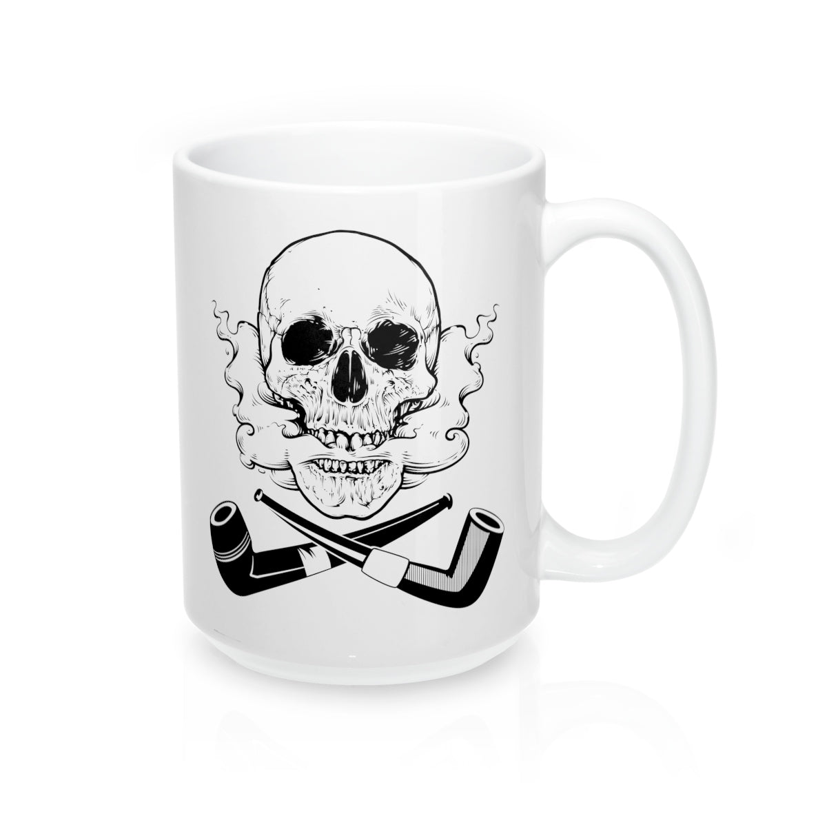 Skull and Cross Pipes Mug 15oz