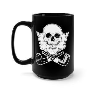 Skull and Cross Pipes Black Mug 15oz