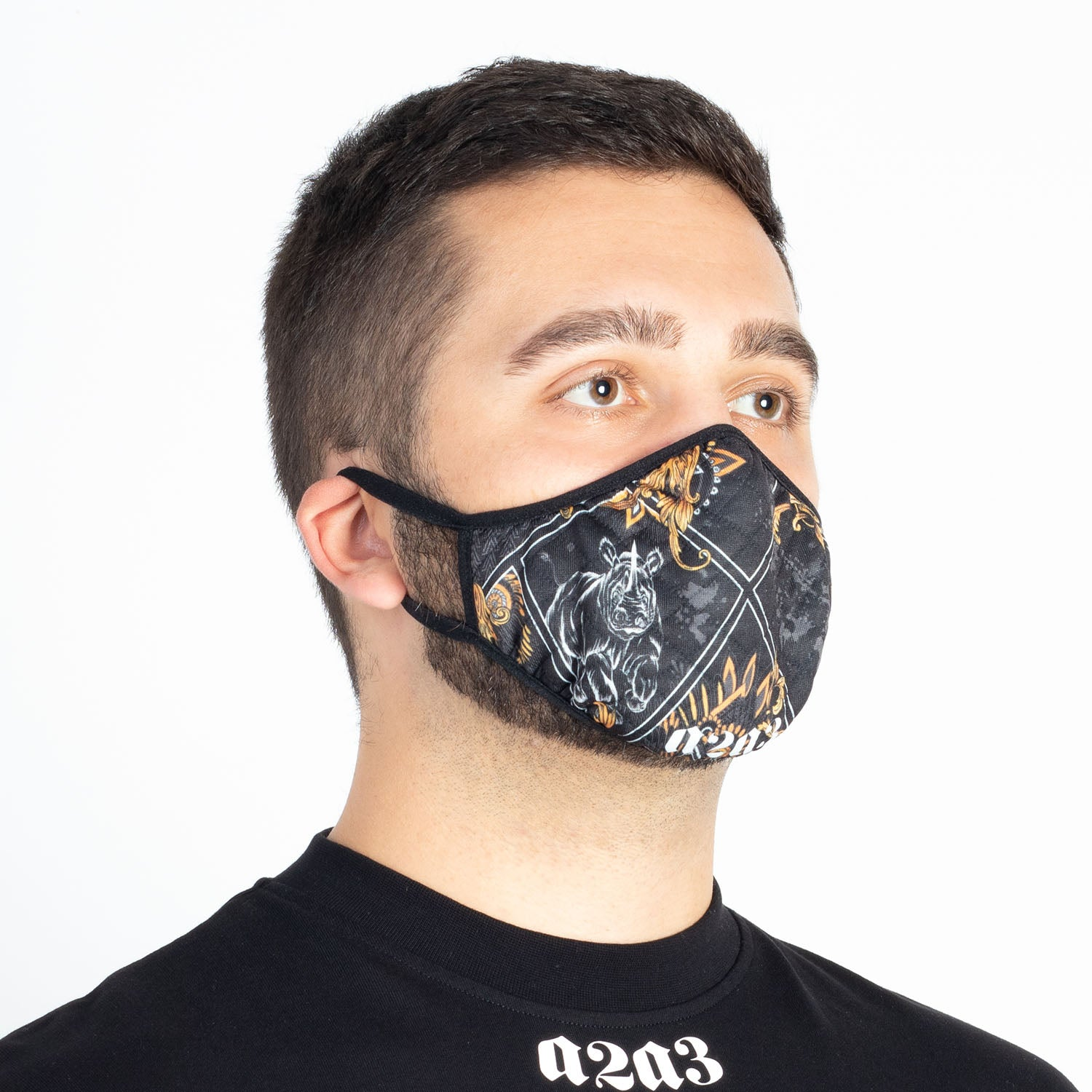 Sudan Printed Mask (Black)