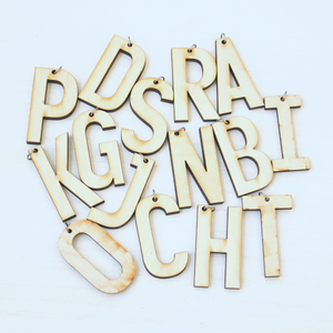 Initial Wood Keychain Craft Kit