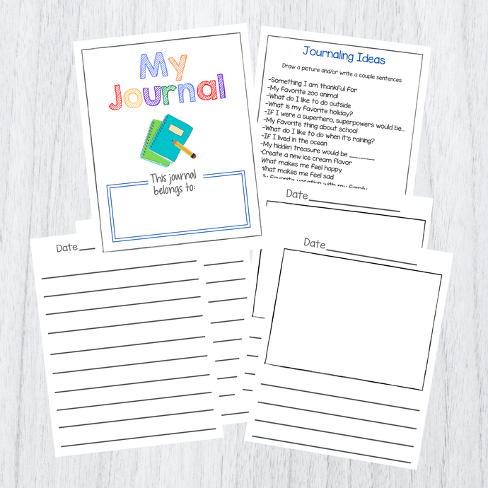 Kids Printable Journal Download with Prompts