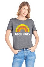 Deal of the Week!  Good Vibes Charcoal Short Sleeve Tee