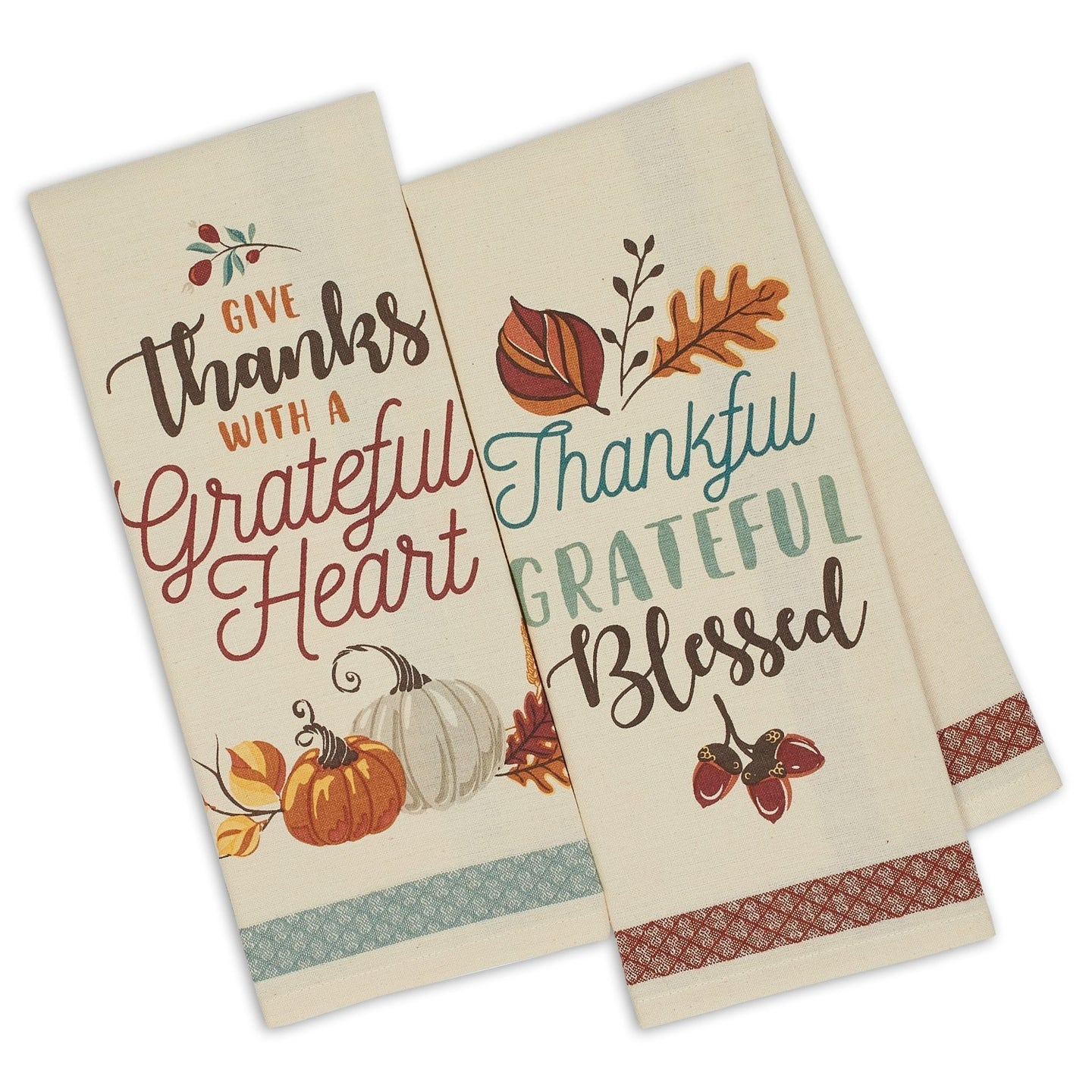 Give Thanks Printed Dishtowels