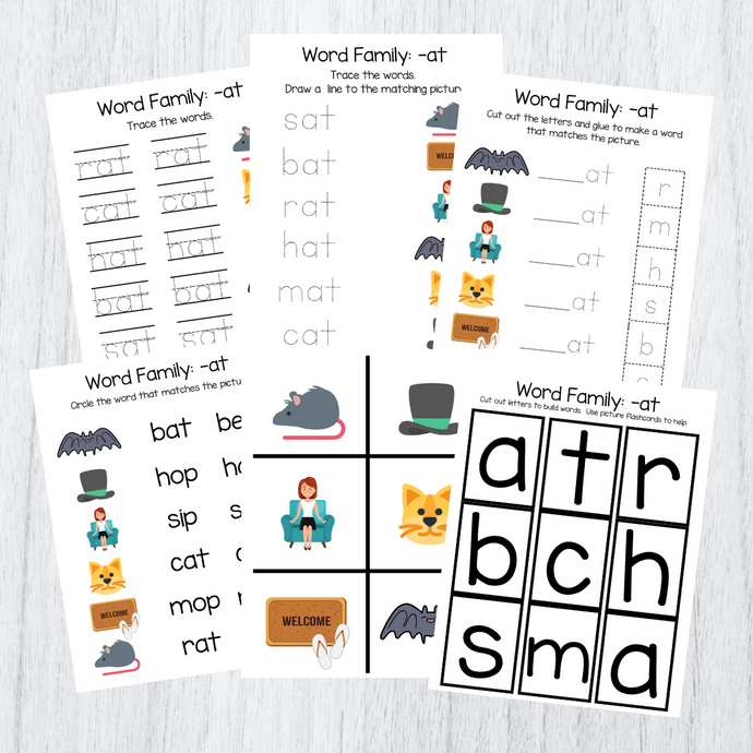 8 Set Word Family Packet Download