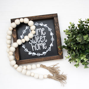 Felt Ball & Wood Bead Garland