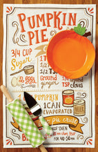 Pumpkin Pie Recipe Printed Towel