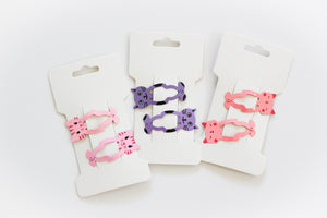 Girls Fun Shapes Snap Hair Clips