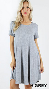 Above Knee Knit A-Line Swing Dress