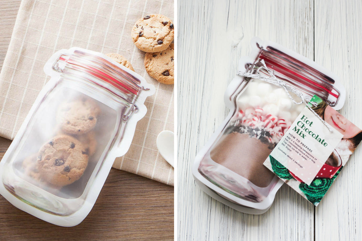 Mason Jar Reusable Zipper Bags