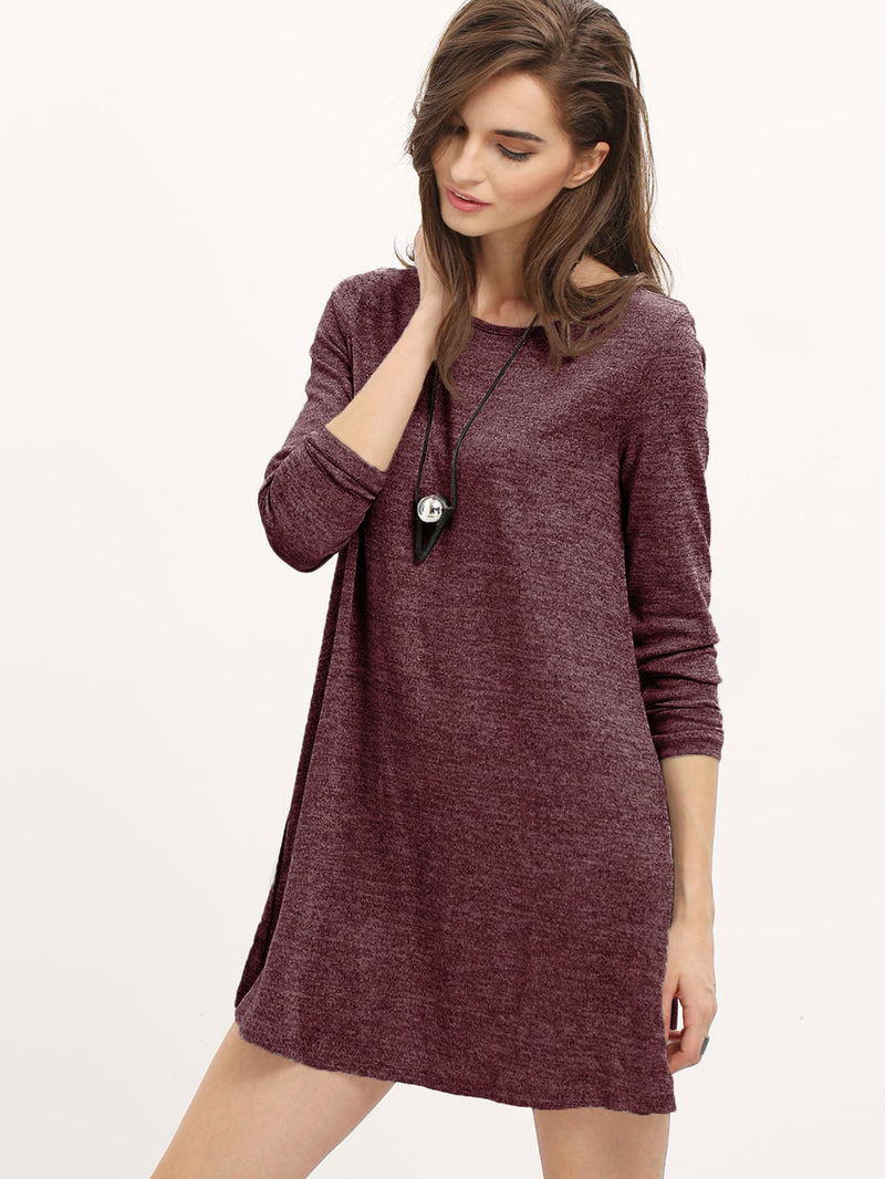 Heather Knit Flowy Dress - ethereal-arscenic