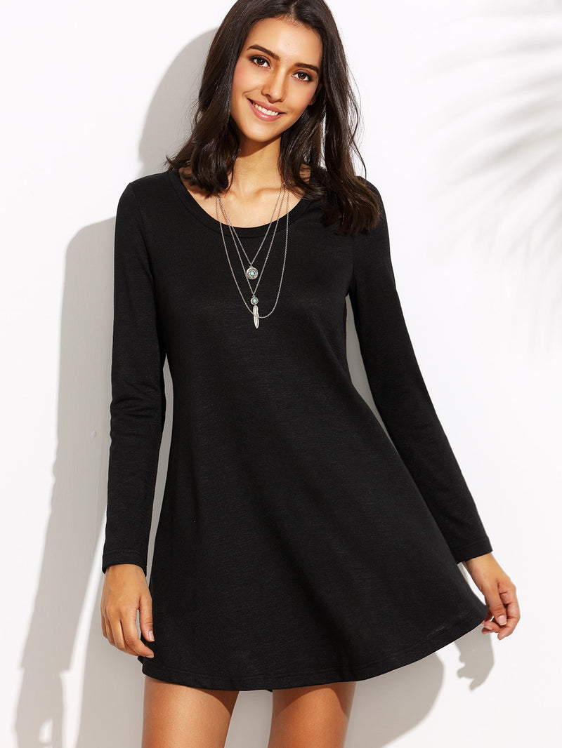 Fit And Flare Tee Dress - ethereal-arscenic