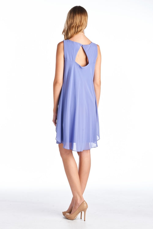 Bead Detail Chiffon Dress - ethereal-arscenic