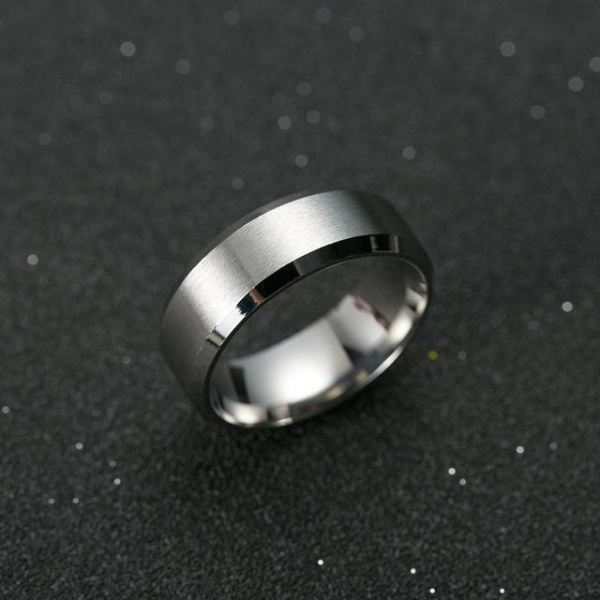 Black Titanium Ring - 6 / Silver