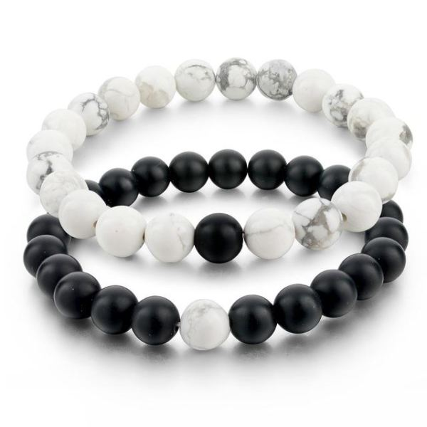 Distance Bracelets - White Black