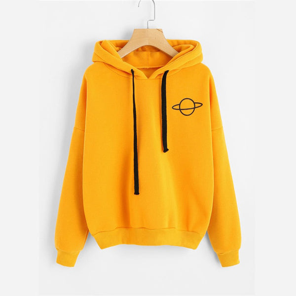 Planet Drop Shoulder Hoodie - ethereal-arscenic