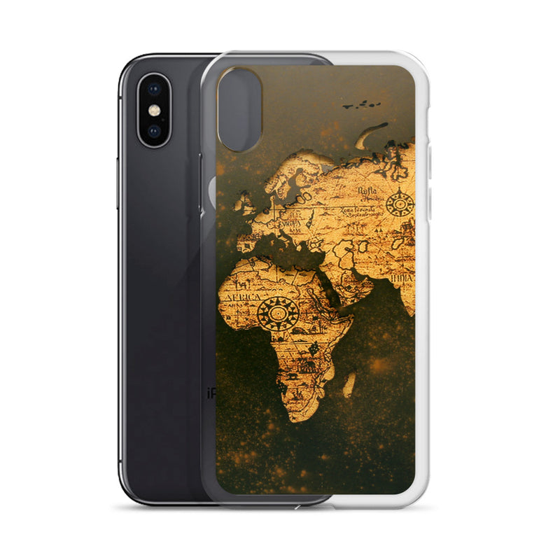 Map iPhone Case - ethereal-arscenic