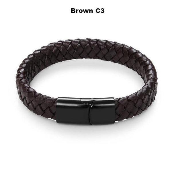 Braided Leather Bracelet - ethereal-arscenic