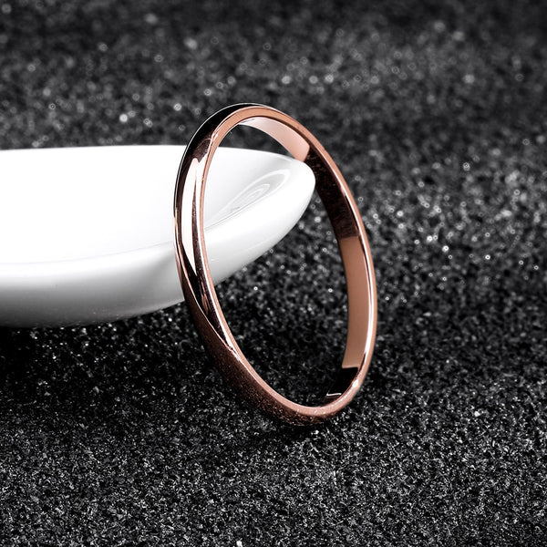 Titanium Rose Gold Rings