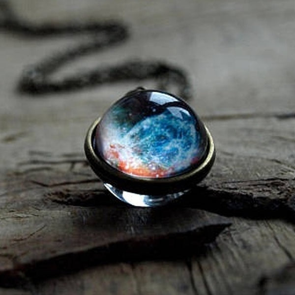 Celestial Globe Pendant Necklace - ethereal-arscenic