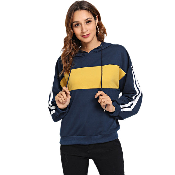 Navy Striped Hoodie - ethereal-arscenic