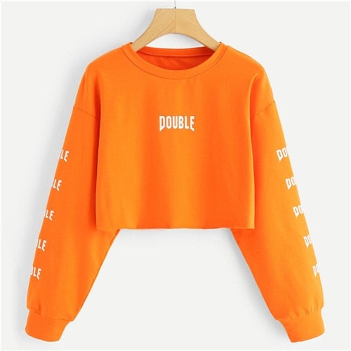 Double Crop Sweatshirt Women - ethereal-arscenic
