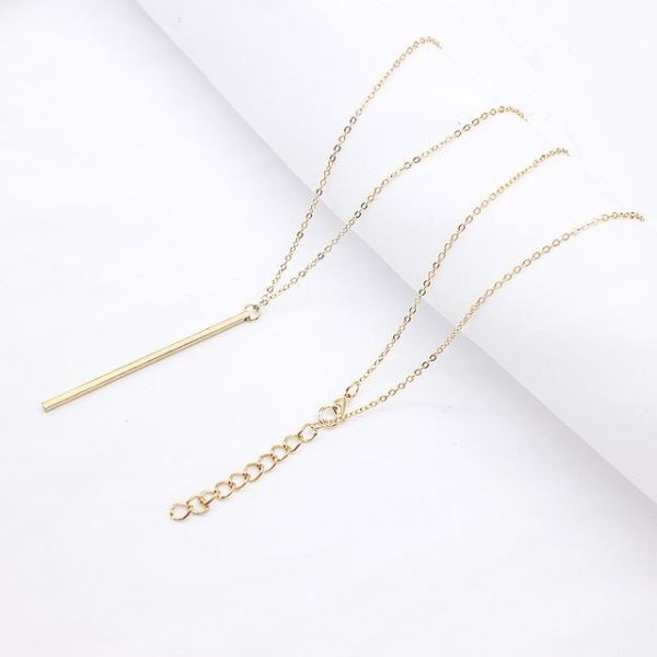 Stick Pendant Necklace - Gold