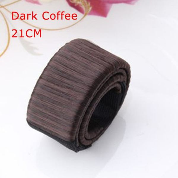 Synthetic Wig Donut Headband - 21Cm Dark Coffee