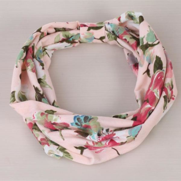 Twisted Knotted Floral Headband - A