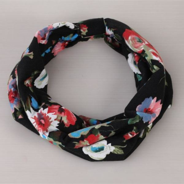 Twisted Knotted Floral Headband - C