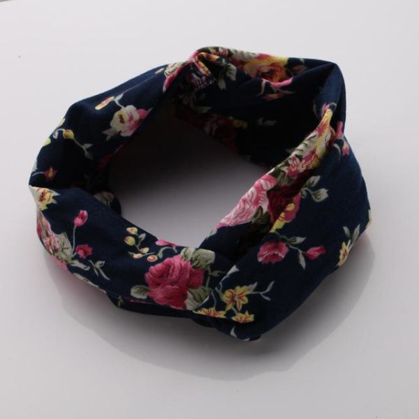 Twisted Knotted Floral Headband - Color 2